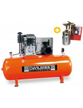 Compresseur à piston 500L - 10CV ET.66.H5.10 + PISTOLET...